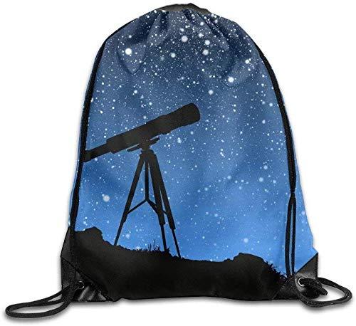 landianguangga Drawstring Bag Star Tracker Telescope Gym Drawstring Backpack Unisex Portable Sack Bags