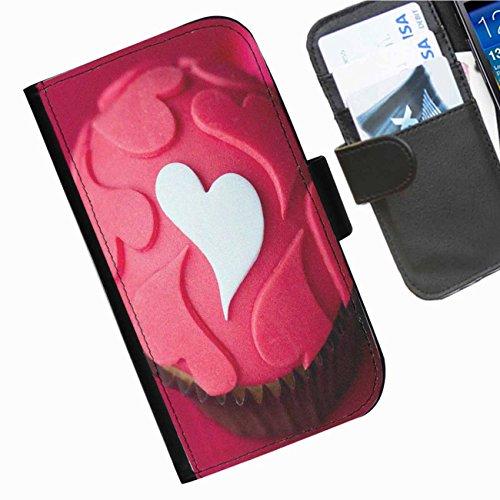 Hairyworm- Kuchen Seiten Leder-Schützhülle für das Handy Sony Xperia E3 (D2203, D2206, D2243, D2202)
