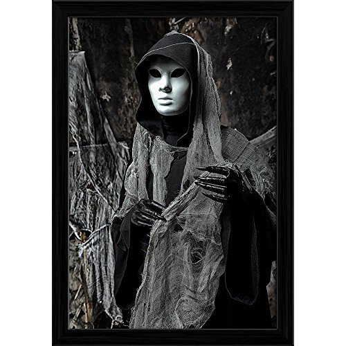 Pitaara Box Halloween Horror D1 Canvas Painting Black Frame 16 X 23.5Inch