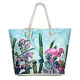 Diealles Bolsa de Playa de Lona Mujer Grande, Bolsa de Playa Grande con Cremallera para Mujeres y Niñas (Style 7)