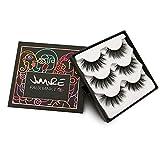 JIMIRE False Eyelashes Wispies Eyelashes Pack Fluffy Long 3D Fake Lashes Resuable Eyelashes