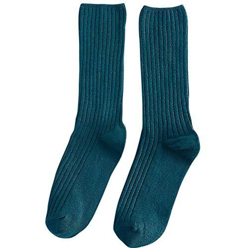 Biback Mori Japonais De Style Automne Et D'hiver Chaussettes Mince Chaussettes Couleur Unie
