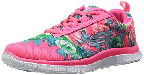 Skechers (SKEES) - Flex Appeal- Wildflowers, Scarpa Tecnica da donna, rosa (hpmt), 39