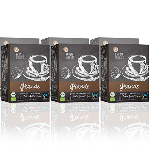 Nescafe Dolce Gusto Single (Barista Moments 6er Pack Grande Kaffeekapseln - 96 Dolce Gusto kompatible Kapseln | 100% Bio und Fairtrade (6 x 16 Kapseln)| BIO)