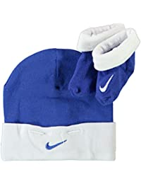 f6f3268c1884 Nike Two Piece Infant Booties   Beanie Set Royal Blue White 0-6 Months Baby