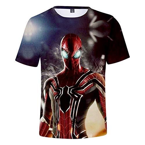 Expedition S/s Shirt (WQWQ Männer Casual T-Shirt Shirt Spider-Man Heroes Expedition Kurzarm Rundhals Digitaldruck Fitness Schnelltrocknend Sweat Gifts,A,S)