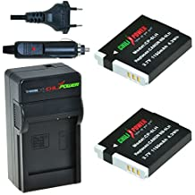 Chili Power NB-6LH Kit: 2X batteria + caricabatteria per Canon PowerShot D10, D20, D30, ELPH 500HS, S90, S95, S120, Sd770Is > sd4000is, SX170IS-> SX280HS, SX500IS, SX510HS, SX520HS, SX600HS, SX700HS