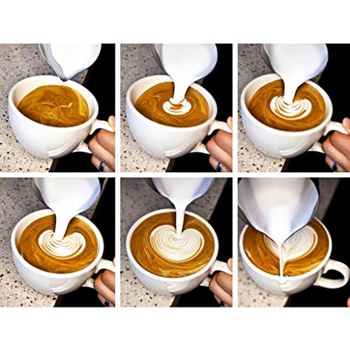 Sharplace Pichet de Café en Acier Inoxydable Échelle avec Mug Chauffage pour Voiture Café Vaisselle Pot Lait Crème
