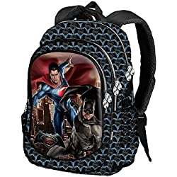 Karactermania Batman V. Superman Dawn Mochila Tipo Casual, 44 cm, 22 litros, Azul