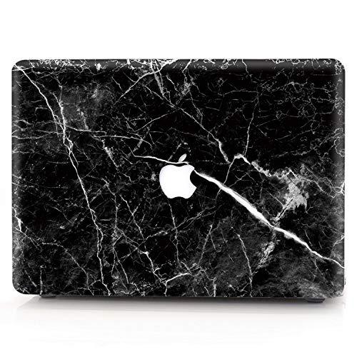 AQYLQ MacBook Schutzhülle/Hard Case Cover Laptop Hülle [Für MacBook Air 13 Zoll: A1369/A1466], Ultradünne Matt Plastik Hartschale Schutzhülle, DLH-13 Schwarzer Marmor
