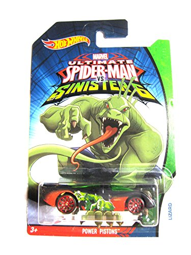 Hot Wheels Marvel Ultimate Spider-Man vs Sinister 6 Lizard Power pistones 1: 64