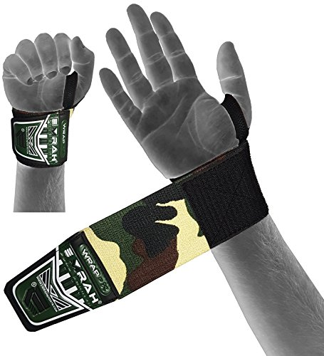EMRAH-Weight-Lifting-Wrist-Wraps-Gym-Straps-Crossfit-Bodybuilding-Power-Training-Workout-Exercise-Camo-Camo-Green