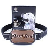 Hunde trainingshalsband für kleine und mittelgroße Hunde mit Vibration. Kontrolle von übermäßigem Bellen mit diesem einfachen Antibell Halsband. Sicher und human ohne Schock (GoodBoy, Braun)