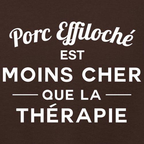 Porc effiloché est moins cher que la thérapie - Femme T-Shirt - 14 couleur Marron Foncé