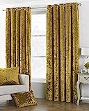 Paoletti Verona gecrushter Samt Vorhang mit Ösen, 66x 54(168x 137cm), gelb