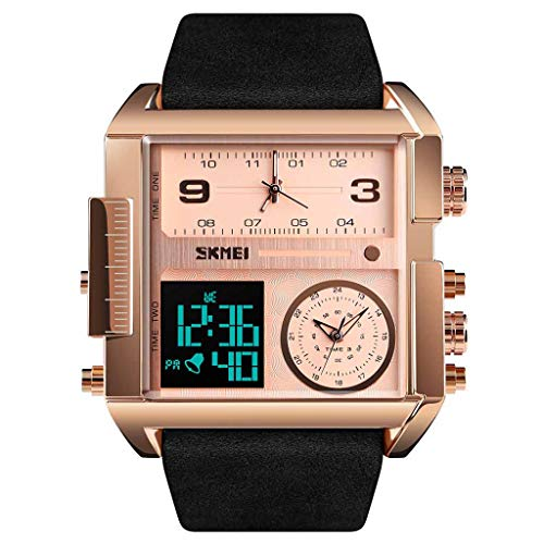 (Haludock Herren 30M wasserdichte Multifunktions-Sportuhr Square Fashion Electronic Watch)