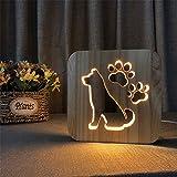 YOGAA Luce Notturna A LED per Camera da Letto Portafoto in Legno Cavo da 2,5 W per Foto Occhi Creativi Illuminazione per Piccoli Tavoli Bambini Adulti Bellissimi Regali Giocattoli