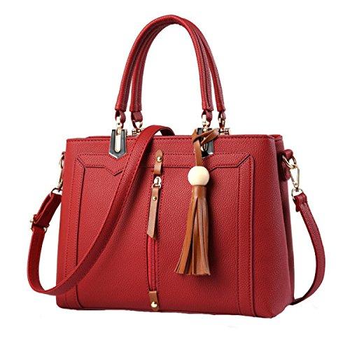 Damen Damen Süße Damen Mode Messenger Tasche Umhängetasche Red