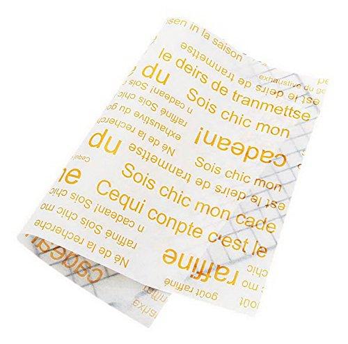 Spicy Meow 50 Blätter gelb Französisch Muster Öl-Beweis Backen Kraftpapier Essen Pan Tray Papier