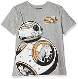 Disney Star Wars Jungen T-Shirt \bb8\, Grau (Grey Marl), 7-8 Jahre