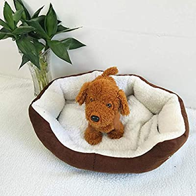 Pet Bed Soft Cotton Quality Puppy Footprint Dog Cave Cat Bed for Cats and Small Dogs by Funmazit