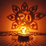 FashionFrame Decorative Shadow OM T-light Candle Holder Stand For Pooja And Decorative