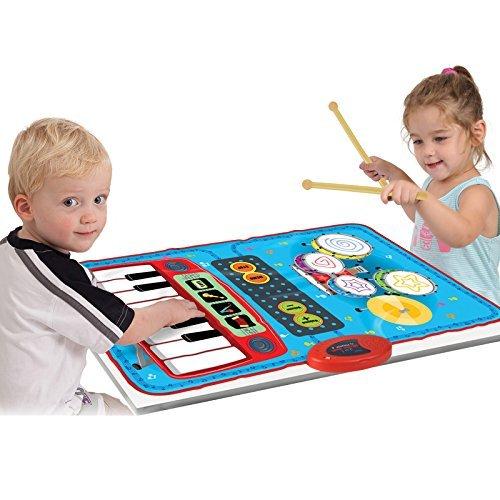 SainSmart Jr. 2-in-1 faltbare Musikmatte, Keyboard funktionelle Jam Drum & Piano Playmat, beschreibbare Musikinstrumente