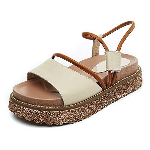 Lady,Summer,Une Bande De Sandales Plat,Muffins,Chaussures Tout Usage A