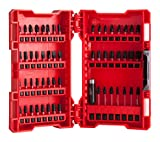 Milwaukee 4932430907 Shockwave Jeu de 56 mèches et embouts de tournevis, rouge