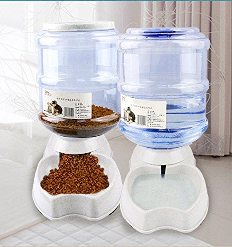 Automatischer Futterspender,Futter und Wasserspender,Futterautomat Katze Haustier,Hund Schüssel,Automatik für Hund Katze im Set,jeweils 3.8 L von Old Tjikko
