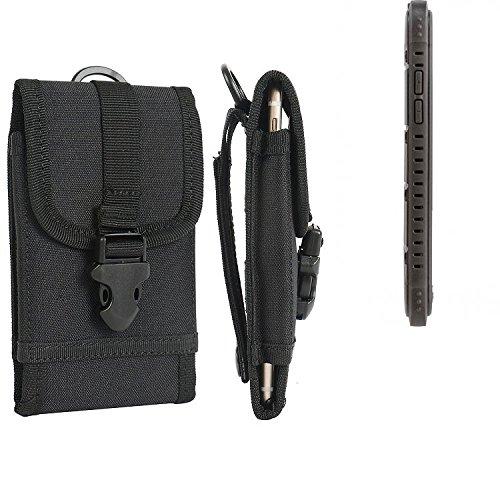 K-S-Trade Handyhülle für Cyrus CS 35 Gürteltasche Handytasche Gürtel Tasche Schutzhülle Robuste Handy Schutz Hülle Tasche Outdoor schwarz