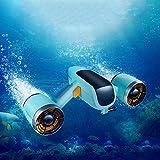 BABI Scooter Submarino, Booster subacuático, Sea Scooter Drone Natación Soporte de cámara Compatible Booster portátil/Doble hélice Excursión submarina,2