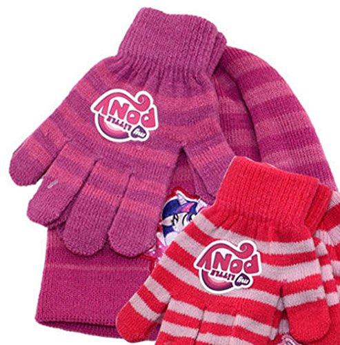 My little Pony Exclusiv Winter Mütze + Handschuhe Set - Kinder/Junior (lila) Lila Junior Set