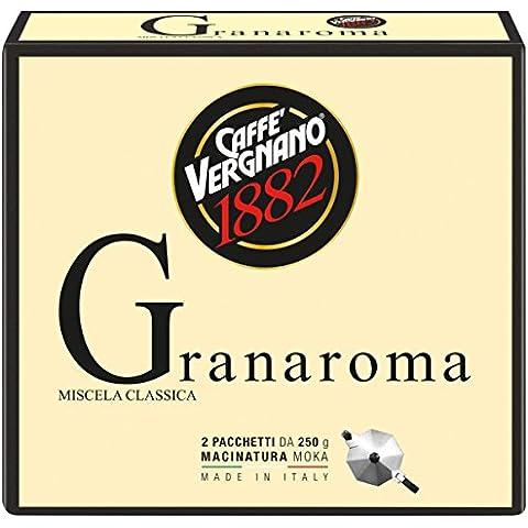 Caffè Vergnano 1882 Gran Aroma, 2x250 gr - 2 Pacchetti - Casa Casa Miscela Di Caffè