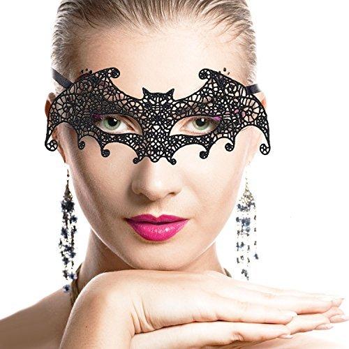 Beetest-Maske Damen Spitze sexy Maskenspiel Karneval Party Ball Gesicht Augenmaske (Fledermaus Gesicht Kostüm)