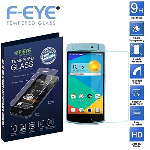 FNS F-EYE® Oppo N1 Mini Tempered Glass,Protective Curved Edge Screen for your mobile [Oppo N1 Mini] EASY INSATALLATION - 9h Hardness and HD Clarity