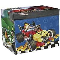 Preisvergleich für Arditex Mickey Mouse–Aufbewahrungsbox mit Bildteppich Geschlossen: 41* 31* 28cm/Offen: 84x 95cm