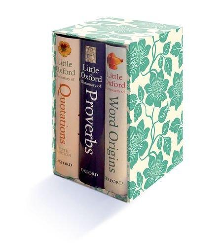 Little Oxford Gift Box: Little Oxford Dictionary of Quotations, Little Oxford Dictionary of Proverbs; Little Oxford Dictionary of Word Origins
