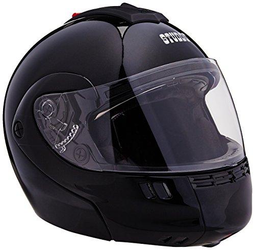 Studds Full Face Helmet Ninja 3G (Double Visor Black, M)