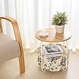 Runder Tabellen-kleiner Couchtisch-moderner Ecksofa-Tabellen-Telefon-Tabelle 42 * 42 * 43cm ( Farbe : B )