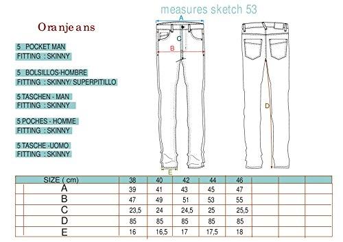 Oranjeans 0CI16251 - Skinny Jeans für Männer Stone Wash Used Bleach