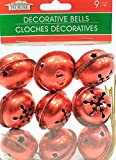 9 Large Christmas House Aged Finish Snowflake Cutout Jingle Bells (Red) by Christmas House best price on Amazon @ Rs. 1600