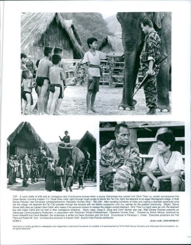 Vintage photo of 1995Scene of the movie Operation Dumbo Drop.(top)Captain T.C. Doyle...
