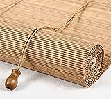 Bambusvorhang Leichtes Bambusrollo Mit Seitenzug Geeignet Für Balkon, Abgeschnitten, Teehaus, Büro, Langer Pavillon Holz (Farbe : Style3, größe : 80x200cm)