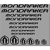 PEGATINAS MONDRAKER BICI R180 STICKERS AUFKLEBER DECALS AUTOCOLLANTS ADESIVI (NEGRO)
