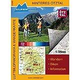 Luftbildpanorama & Wanderkarte Hinteres Ötztal