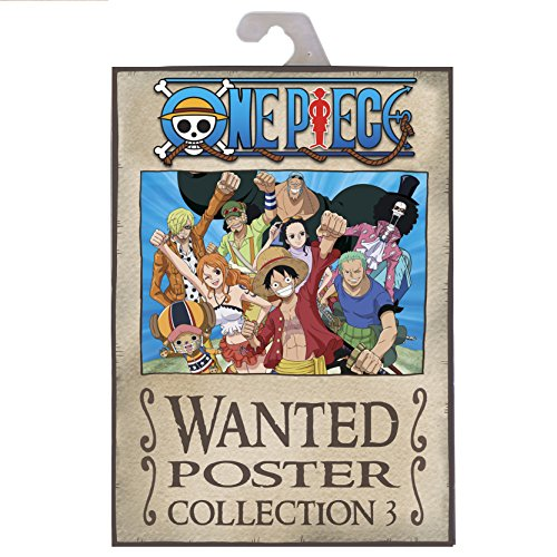 ONE PIECE - Portfolio 9 posters wanted Luffy's crew (21x29,7)