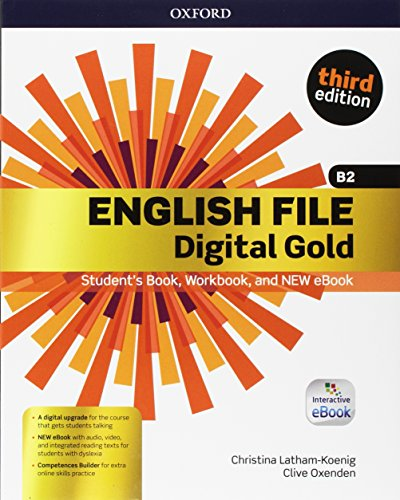 English File Digital Gold B2 Premium with key. Entry Checker + Student's Book & Workbook + Interactive eBook + Competences Builder Online
