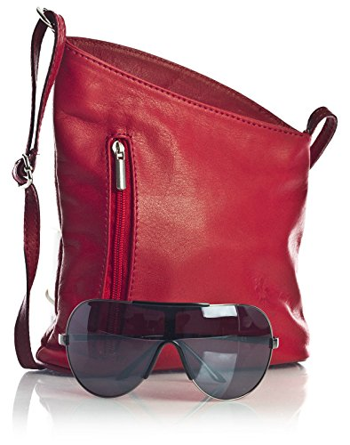 Big Handbag Shop, Borsa a tracolla donna One Black - Red Trim