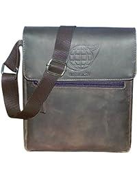 Style98 100% Hunter Leather Handmade Stitched Unisex Sling Bag For Men,Women,Boys & Girls - B06XXWMV5G